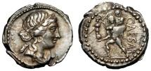 Ancient Coins - JULIUS CAESAR AR DENARIUS