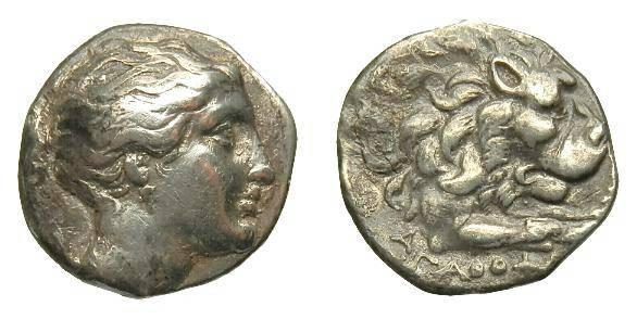 Ancient Coins - CARIA.  KNIDOS. AR DRACHM.  C. 330-250 BC