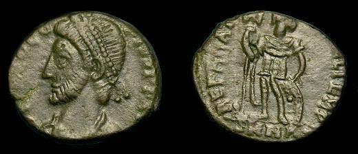 Ancient Coins - Procopius.  Ae 3.  365-366 AD.  Rare emperor.