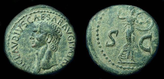 Ancient Coins - Claudius. Ae as.  C. 42 AD.