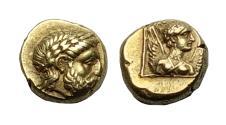 Ancient Coins - Lesbos Mytilene El Hekte. Super Detail