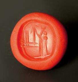 Ancient Coins - Superb Neo-Babylonian Pyramid Chalcedony Stamp Seal Engraved With God Nabu