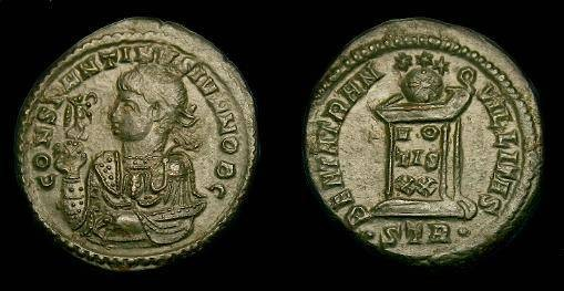 Ancient Coins - Constantine II.  Ae3.  322-323 AD.  Rare type.