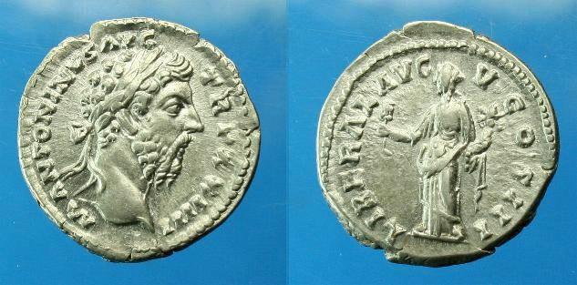 Ancient Coins - Marcus Aurelius.  Ar denarius.  C. 169 AD.  Super detail.