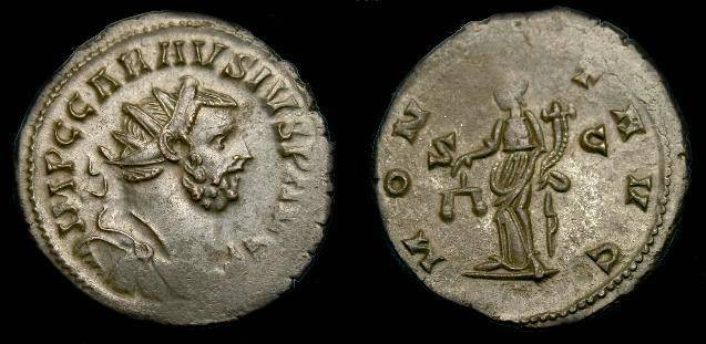 Ancient Coins - Carausius, Ae ant.  287-293 AD.  Large flan and nice detail.