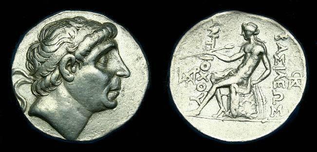 Ancient Coins - Seleukid.  Antiochos I.  Ar tetradrachm.   C.280-261 BC.  Nice coin.