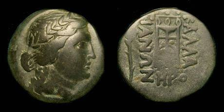 Ancient Coins - Thrace.  Kallatis.  Ae23.  3rd-2nd century BC.  Nice patina.