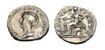 Ancient Coins - FAUSTINA SENIOR AR DENARIUS. SCARCE