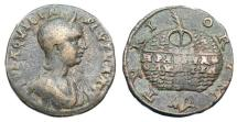 Ancient Coins - RARE AQUILIA SEVERA AE 27 PHOENICIA TYRE