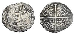 World Coins - SCOTLAND. DAVID II AR GROAT