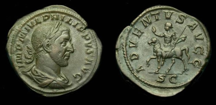 Ancient Coins - Philip I.  Ae sestertius.  244-249 AD.  Super detail.  'Choice'