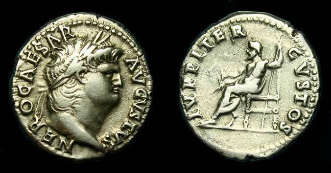 Ancient Coins - Nero.  Ar denarius.  65-66 AD.  Nice pleasing coin.