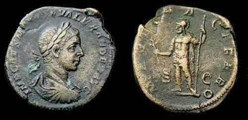 Ancient Coins - Severus Alexander.  Ae sestertius.  222-235 AD.