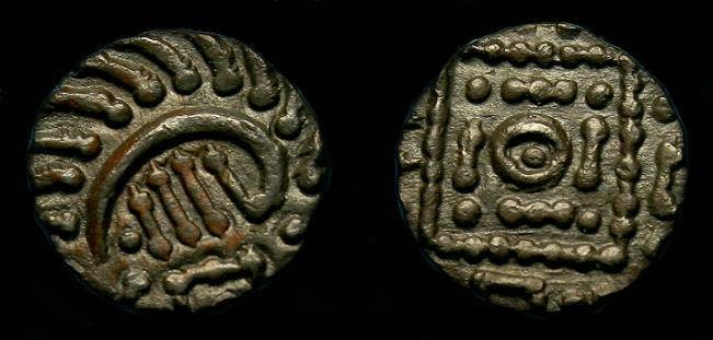 Ancient Coins - Anglo-Saxon.  Ar sceat.  695-740.  Nice detail.