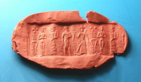 Ancient Coins - HEMATITE OLD BABYLONIAN CYLINDER SEAL