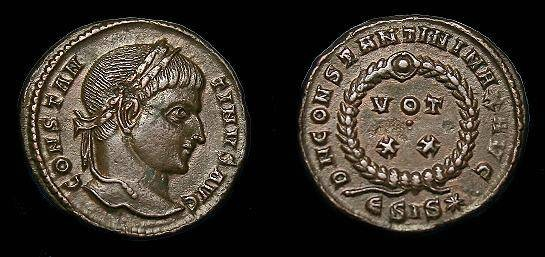 Ancient Coins - Constantine I.  Ae3.  307-337 AD.  Nice detail.