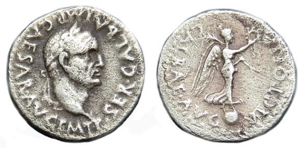 Ancient Coins - RARE GALBA AR QUINARIUS