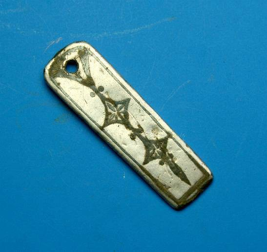 Ancient Coins - Silver Ostrogothic strapend inlaid with niello.  C. 6th-7th century.