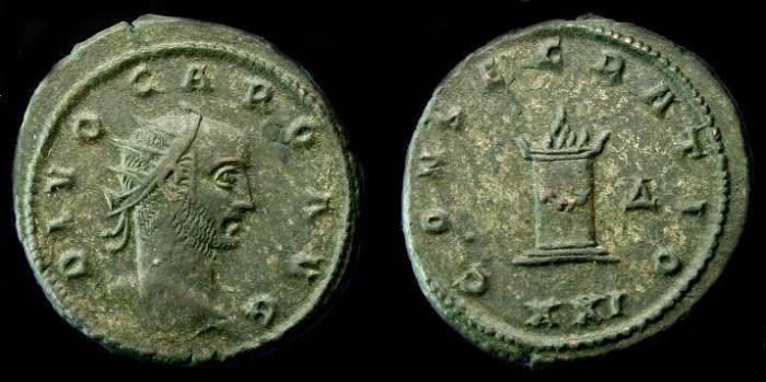 Ancient Coins - Divo Caro (Carinus).  Ae ant.  C. 284 AD.  RARE!