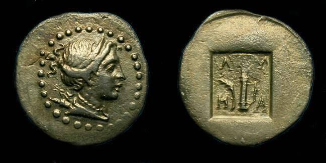 Ancient Coins - Lycia.  Masikytes.  1/4 drachm.  1st century BC.  Super little coin.