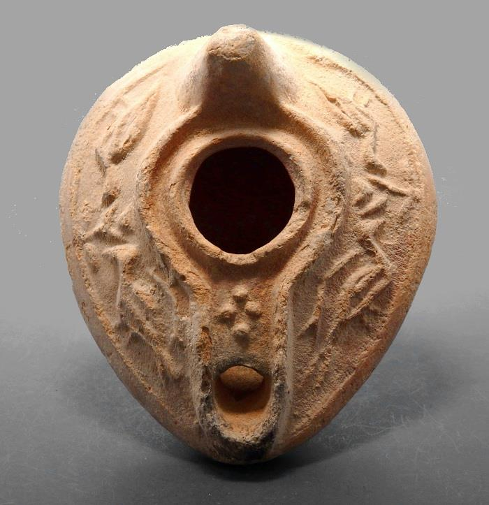 Ancient Coins - Byzantine Terracotta Oil Lamp Decorated With Birds