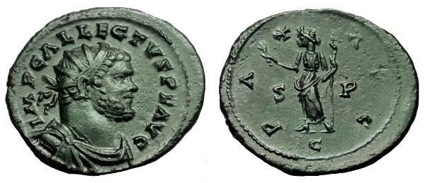 Ancient Coins - ALLECTUS AE ANTONINIANUS COLCHESTER MINT