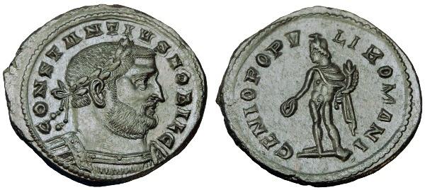 Ancient Coins - CONSTANTIUS I AE FOLLIS LONDON MINT