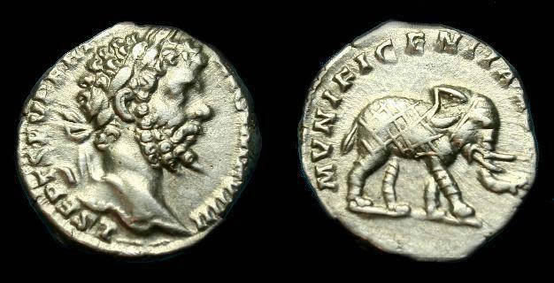 Ancient Coins - Septimius Severus.  Ar denarius.  193-211 AD.  Super example.