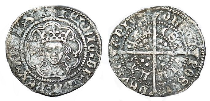 Ancient Coins - HENRY VI AR HALFGROAT