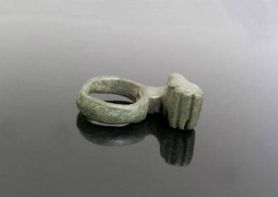 Ancient Coins - ROMAN BRONZE KEY RING