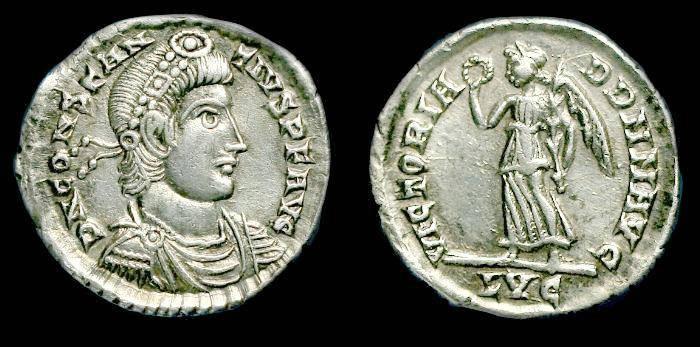 Ancient Coins - Constantius II.  Ar siliqua.  C. 337-361 AD.  SCARCE.