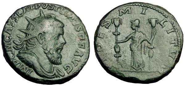 Ancient Coins - POSTUMUS AE DOUBLE SESTERTIUS