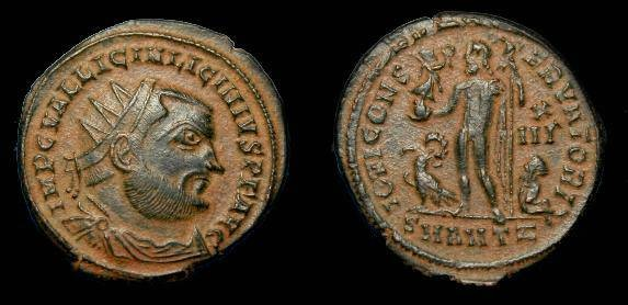 Ancient Coins - Licinius I.  Ae3.  317-324 AD.  Nice portrait.