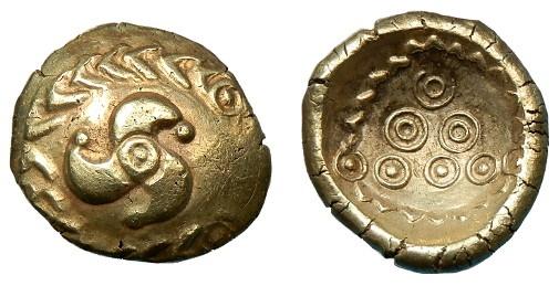 Ancient Coins - 'STOLEN' CELTIC EUROPE VINDELICI AU STATER 'STOLEN'