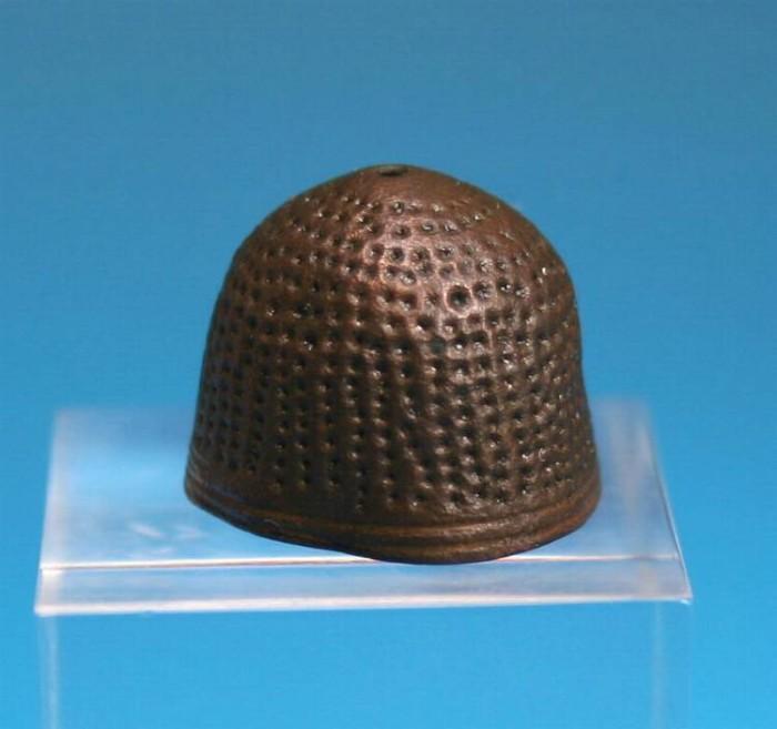 Ancient Coins - Super Medieval bronze thimble.  C 13th century.