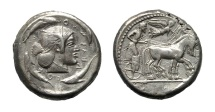 Ancient Coins - SICILY. SYRACUSE.  AR TETRADRACHM