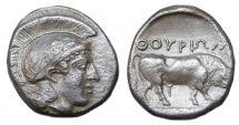 Ancient Coins - LUCANIA THOURIOR AR NOMOS