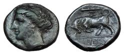 Ancient Coins - Sicily Syracuse Ae Litra. Time Of Agathokles