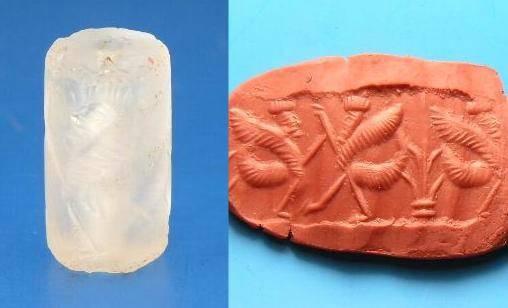 Ancient Coins - RARE ROCK CRYSTAL NEO-BABYLONIAN CYLINDER SEAL