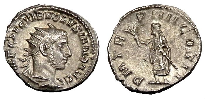 Ancient Coins - Volusian Ar Antoninianus. Ex Dorchester Hoard