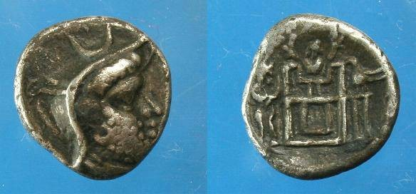 Ancient Coins - King of Persis.  Uncertain King.  Ar hemidrachm.  C. 2nd century BC.
