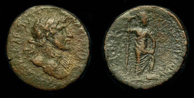 Ancient Coins - Hadrian.  Ae 26.  Phoenicia.  Tripolis.  117-138 AD.