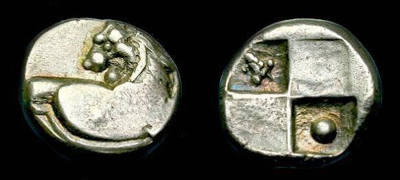 Ancient Coins - Thrace.  Chersonesos.  Ar hemidrachm.  400-350 BC.
