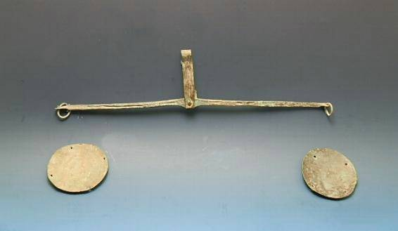 Ancient Coins - ROMAN BRONZE SCALES AND PANS
