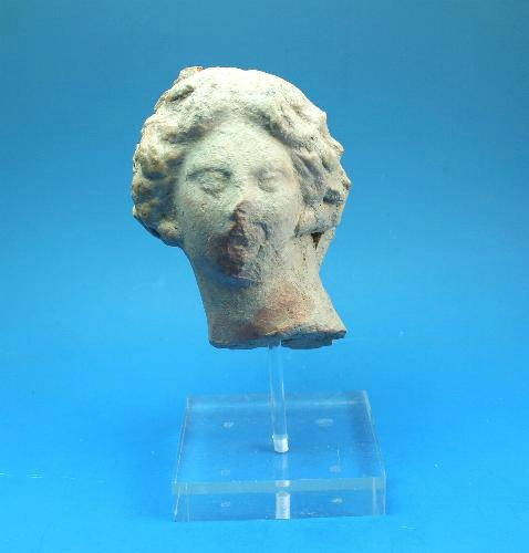 Ancient Coins - Attic female terraotta head.  C. 5th-4th century BC.