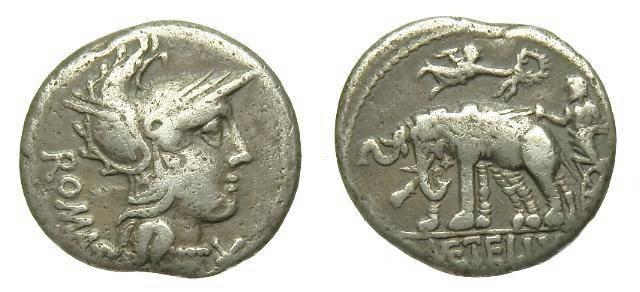 Ancient Coins - C CAECILIUS METELLUS. AR DENARIUS. C. 125 BC