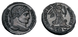 Ancient Coins - CONSTANTINE I AE 3 TRIER MINT