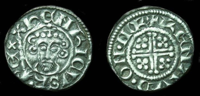 Ancient Coins - John. Ar shortcross penny.  C. 1199-1216.  Rare Norwich mint and a super example.