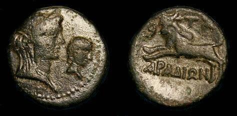 Ancient Coins - Phoenicia.  Arados under Domitian.  Ae22.  81-96 AD.