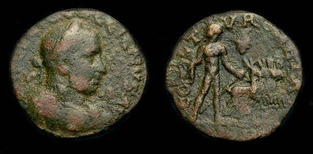 Ancient Coins - Gallienus.  Phoenicia, Tyre.  Ae 26.  253-268 AD.  Rare.
